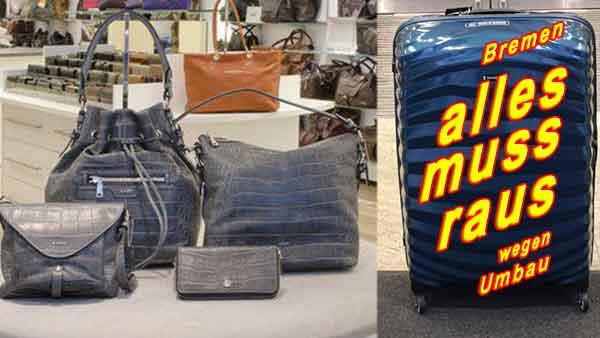 Wo kann mangünstig Handtaschen kaufen? Marken Taschen Sale in Bremer Innenstadt – Beim Räumungsverkauf wegen Umbau Designertaschen billig kaufen bei Dittfeld Mode in Leder Bremen.