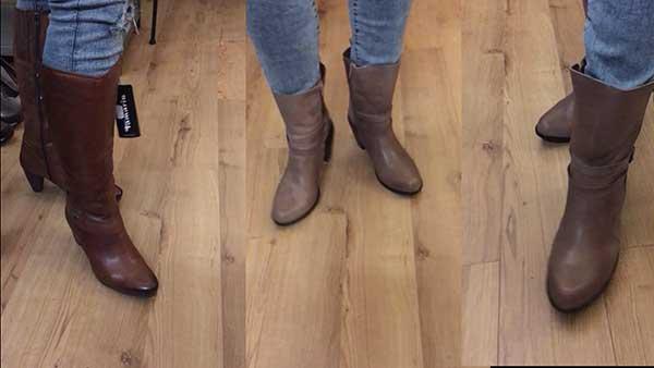 Warme Winterschuhe Damen günstig kaufen? gefütterte Lederstiefel Damen im Ausverkauf Schuh-Palazzo Am Kaiserdamm 8 in Berlin Charlottenburg günstiger