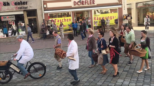Frühjahrsdult 2018 Umzug Landshut Bäcker - Innung Fotos Haack