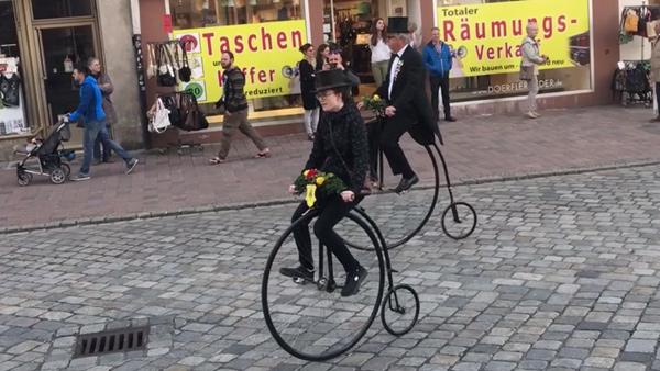 Dult Umzug Landshut 2018 Frühjahrsdult Bilder Historische Hochräder Bruckbergerau Fotos Haack