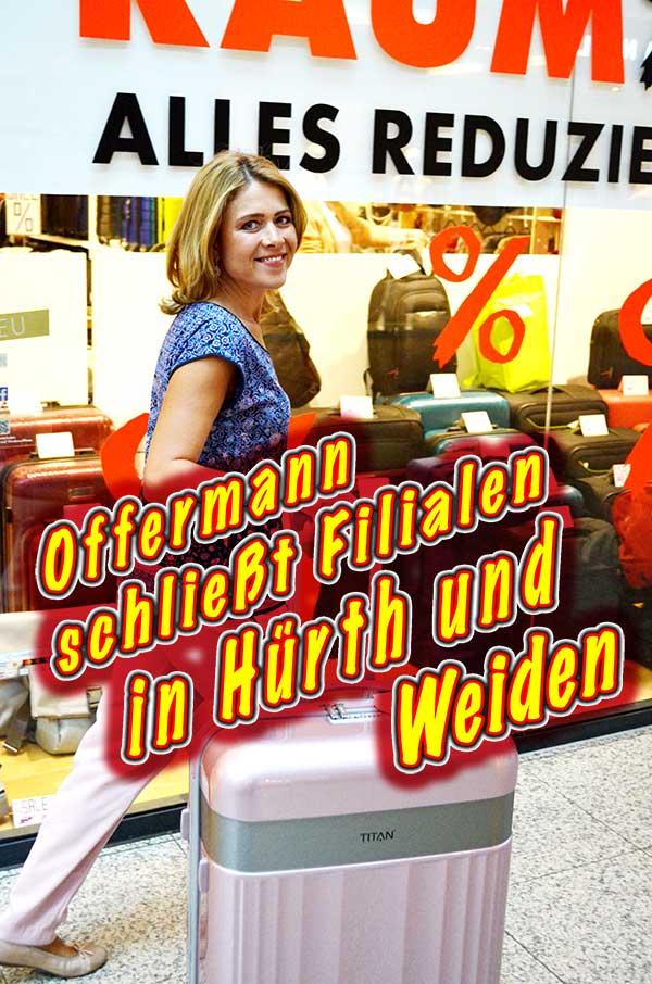 Handtaschen-Koffer-Businesstaschen-guenstig-kaufen-Grosser-Raeumungsverkauf-wegen-Filialschliessung-bei-Offermann-im-Einkaufszentrum-Huerth-Park-und-im-Rhein-Center-Koeln-Weiden