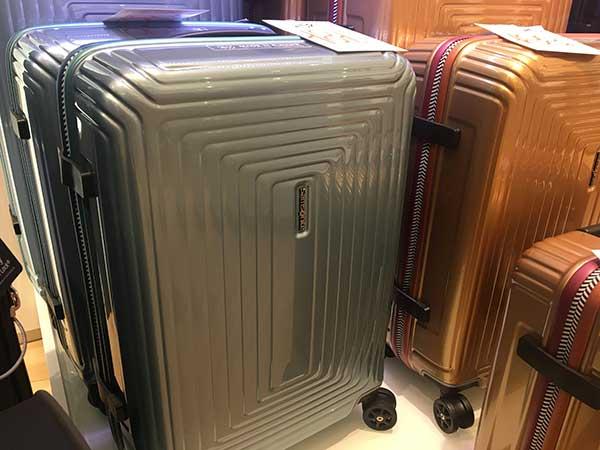 Gepäck Lagerräumungsverkauf - Samsonite Hartschalen Trolley günstig kaufen bei Dellwig in Hamm und bei Lederwaren Fellmer in Lippstadt