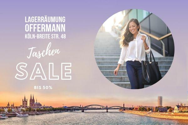 Preise heißer als der Sommer - Jetzt Marken Handtaschen günstig kaufen - Designer Taschen billiger beim Taschen Sale in Köln - Offermann Breite Strasse 48