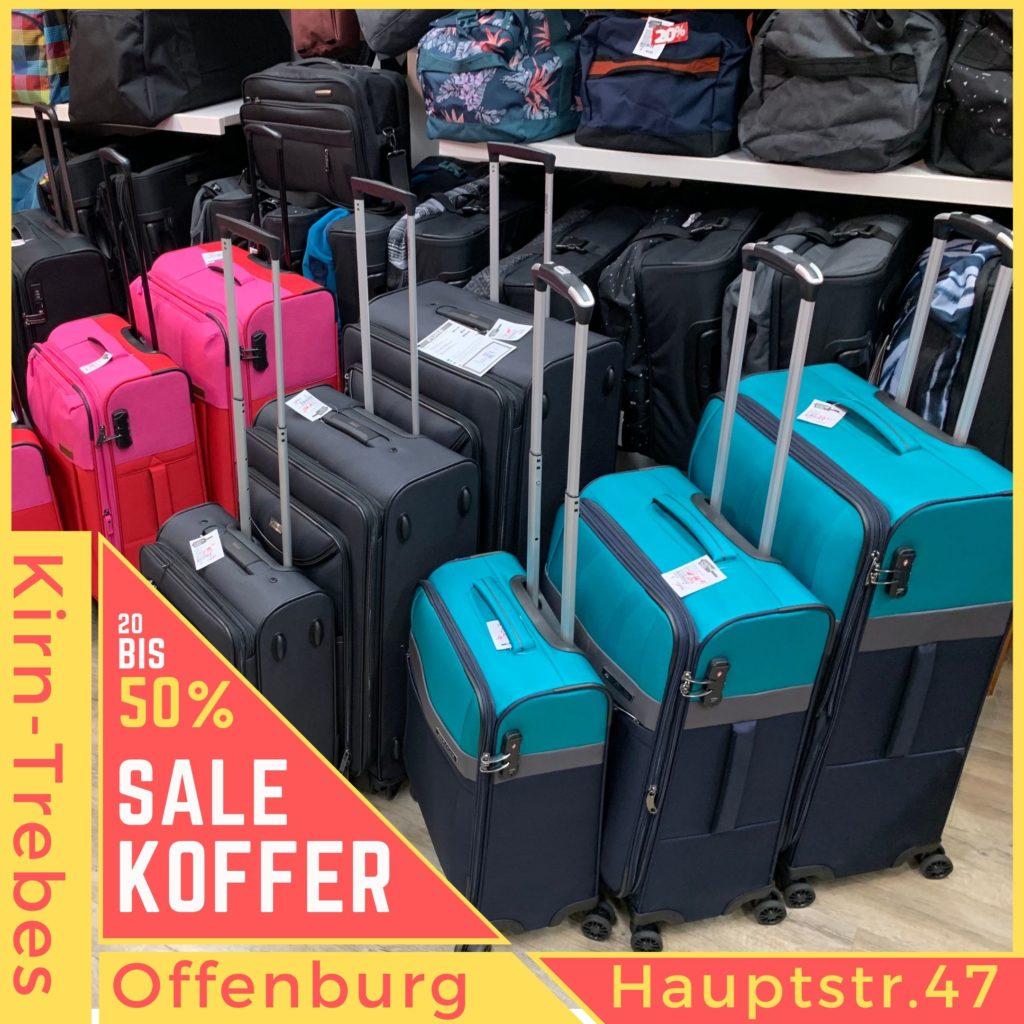 Weichgepäck Koffer eignen sich besonders für Bus, Bahn und Auto. Koffer Sale in Offenburg - Lagerräumungsverkauf bei Kirn-Trebes