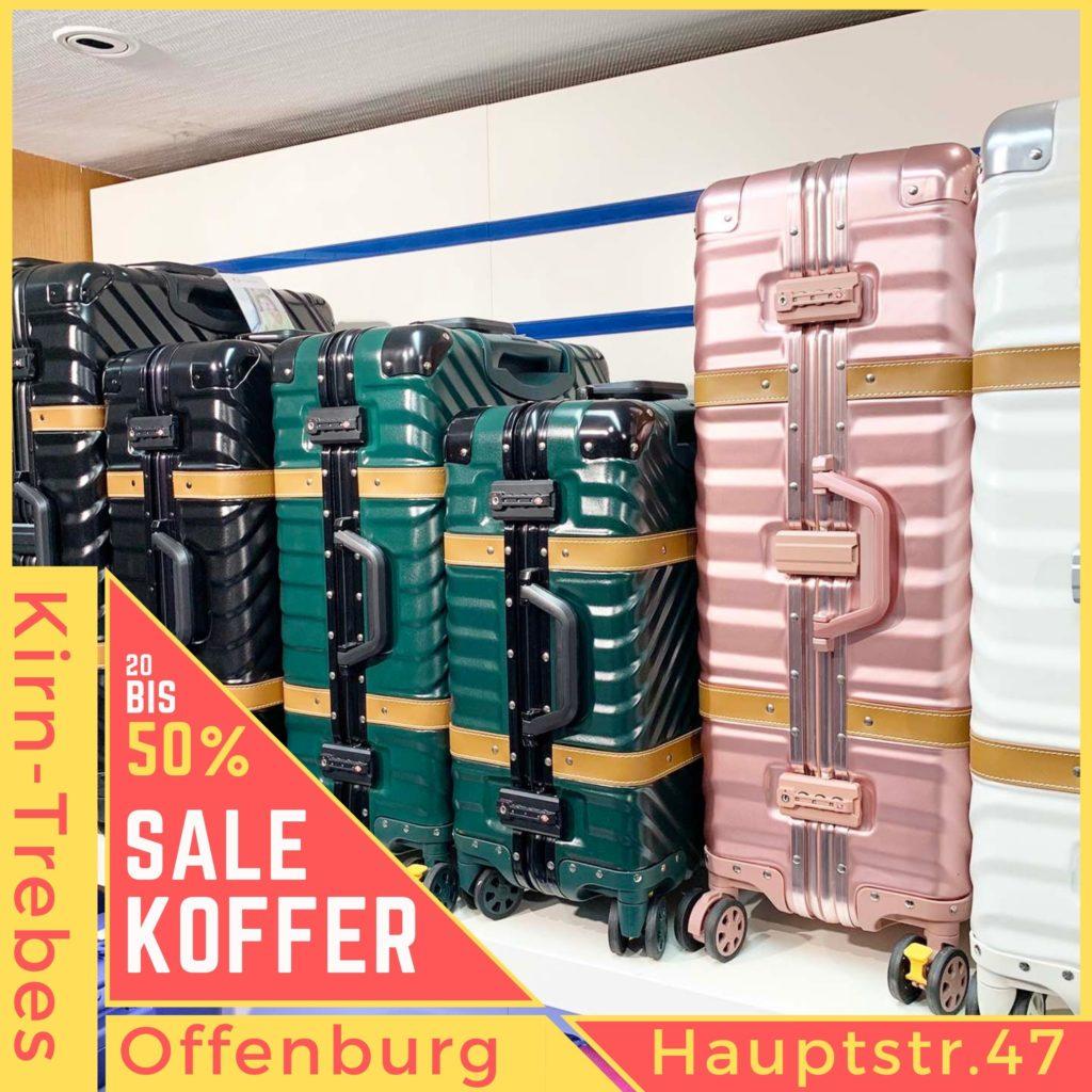 Alle Koffer reduziert. Koffer Sale in Offenburg - Lagerräumungsverkauf bei Kirn-Trebes