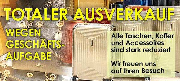 Räumungsverkauf wegen Geschäftsaufgabe bei Offermann - Totaler Ausverkauf - Taschen und Koffer günstig kaufen in Köln